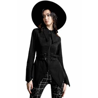 košile dámská KILLSTAR - Haze & Confused Zip - Black, KILLSTAR