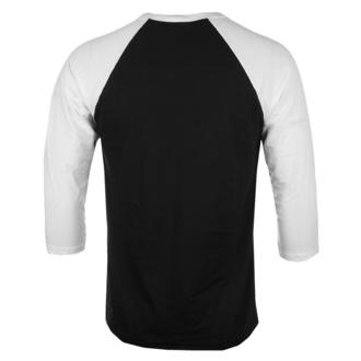 tričko pánské s 3/4 rukávem Jaws - Shark Smoke - Baseball - White-Black - HYBRIS, HYBRIS, ČELISTI