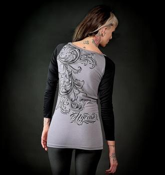 tričko dámské s dlouhým rukávem HYRAW - HURT, HYRAW