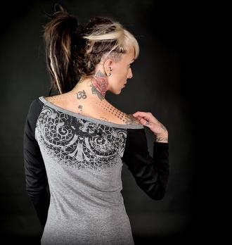 tričko dámské s dlouhým rukávem HYRAW - ORNAMEN, HYRAW