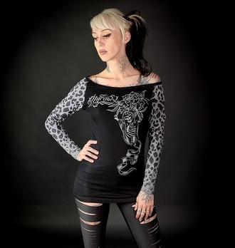 tričko dámské s dlouhým rukávem HYRAW - WILD, HYRAW