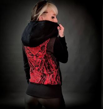 mikina dámská HYRAW - LUCIFER - RED, HYRAW