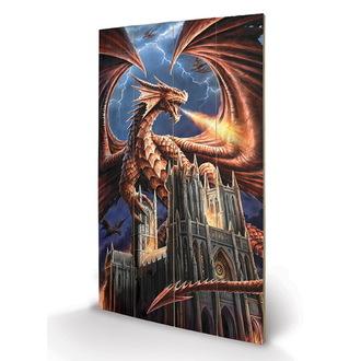 dřevěný obraz ANNE STOKES - (Dragon's Fury), ANNE STOKES