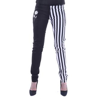 kalhoty dámské Chemical black - IDA - WHITE/BLACK, CHEMICAL BLACK