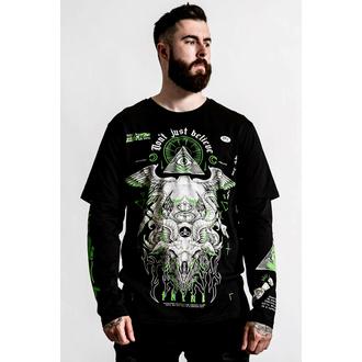 tričko unisex (dlouhý rukáv) KILLSTAR - Illuminated 2-Layer - Black, KILLSTAR