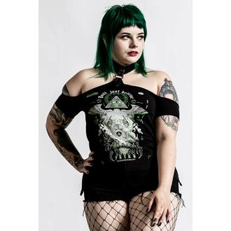 tričko dámské (top) KILLSTAR - Illuminated Choker - Black, KILLSTAR
