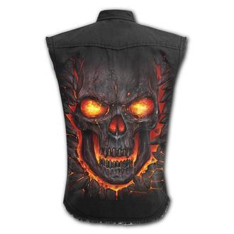 košile pánská bez rukávů SPIRAL - SKULL LAVA, SPIRAL