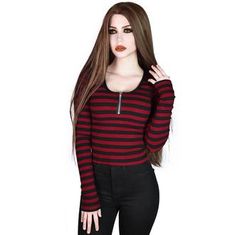 tričko dámské s dlouhým rukávem KILLSTAR - Izora Ribbed - BLOOD - KSRA002710