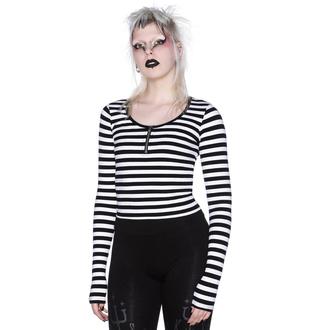 tričko dámské s dlouhým rukávem KILLSTAR - Izora Ribbed - WHITE - KSRA002712