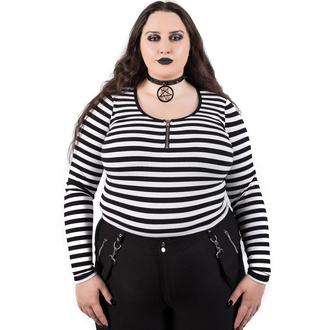 tričko dámské s dlouhým rukávem KILLSTAR - Izora Ribbed - WHITE, KILLSTAR
