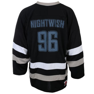 tričko pánské s dlouhým rukávem (dres) NIGHTWISH - OWL- LOGO 96 BLK/WHT - JSR, Just Say Rock, Nightwish