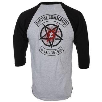 tričko pánské s 3/4 rukávem EXODUS - METAL COMMAND - GREY/BLK - JSR, Just Say Rock, Exodus