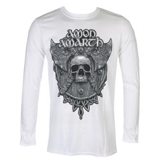 tričko pánské s dlouhým rukávem AMON AMARTH - GREY SKULL - White - PLASTIC HEAD - PH11897LS