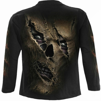 tričko pánské s dlouhým rukávem SPIRAL - THREAD SCARE - Black, SPIRAL