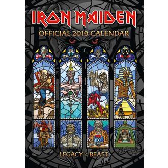 kalendář na rok 2019 IRON MAIDEN, NNM, Iron Maiden
