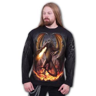 tričko pánské s dlouhým rukávem SPIRAL - DRACO UNLEASHED - Black, SPIRAL