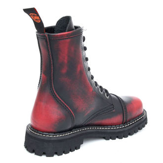 boty KMM - 8dírkové - Black/Red