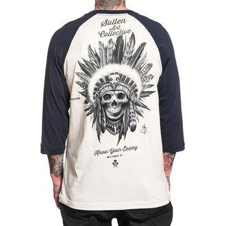tričko pánské s 3/4 rukávem SULLEN - KNOW YOUR ENEMY - WHITE/NAVY, SULLEN