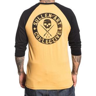 tričko pánské s 3/4 rukávem SULLEN - MUBK BOH BUILT - MUSTARD/BLACK, SULLEN