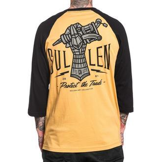 tričko pánské s 3/4 rukávem SULLEN - IRON HAND - MUSTARD/BLACK, SULLEN