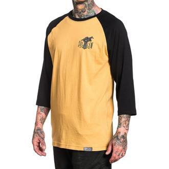 tričko pánské s 3/4 rukávem SULLEN - IRON HAND - MUSTARD/BLACK
