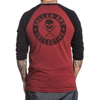 tričko pánské s 3/4 rukávem SULLEN - BOH BLINK - BURGANDY/BLACK
