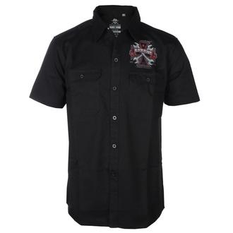 košile pánská BLACK HEART- REPAIRMAN - BLACK, BLACK HEART