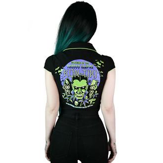 košile dámská KILLSTAR - Kon-Tiki Crop - Black, KILLSTAR
