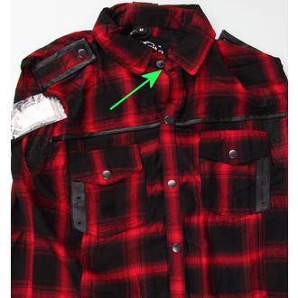 košile pánská bez rukávů VIXXSIN - Diablo - Red - POŠKOZENÁ, VIXXSIN