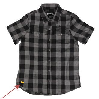 košile pánská Jack Daniels - Checks - Black/Grey - POŠKOZENÁ, JACK DANIELS
