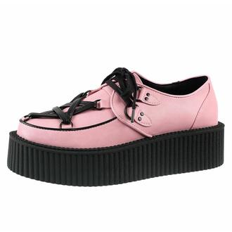 boty dámské KILLSTAR - Hexellent Creepers - Pastel Pink, KILLSTAR