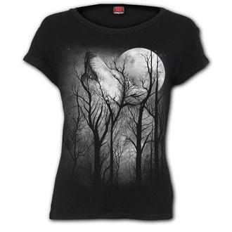 tričko dámské SPIRAL - FOREST WOLF - Black, SPIRAL