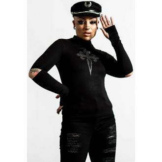 tričko dámské s dlouhým rukávem KILLSTAR - Laverna Cross - Black, KILLSTAR