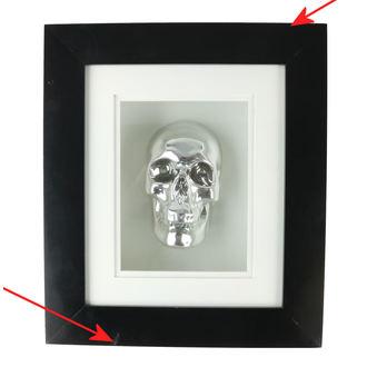 obraz Silver Skull In Frame - B0330B4 - POŠKOZENÝ