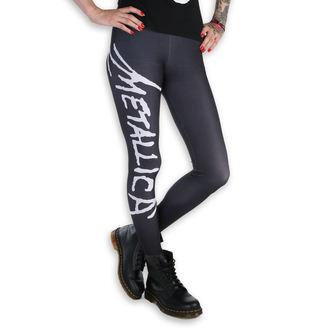 kalhoty dámské (legíny) - Metallica - Logo - Black/White, PAMELA MANN