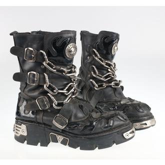 Boty New rock - Chain Boots (727-S1) Black - POŠKOZENÉ - MA477