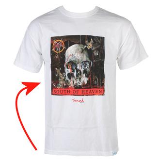 tričko pánské SLAYER - DIAMOND - South Of Heaven - White - POŠKOZENÉ, DIAMOND, Slayer