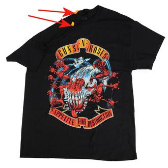 tričko pánské Guns N' Roses - Appetite for destruction - BRAVADO - POŠKOZENÉ - MA503