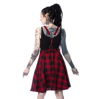 šaty dámské Heartless - MAUDE PINAFORE - RED CHECK, HEARTLESS