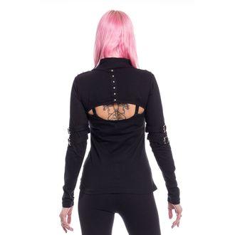 tričko dámské s dlouhým rukávem Poizen Industries - MAZIA - BLACK, POIZEN INDUSTRIES