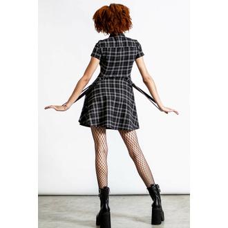 šaty dámské KILLSTAR - Menace Collar - ASH TARTAN, KILLSTAR