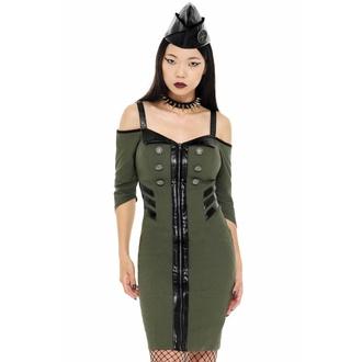 šaty dámské KILLSTAR - Miss Stardust - KHAKI, KILLSTAR
