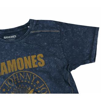 tričko pánské Ramones - Presidential Seal Snow Wash - NAVY - ROCK OFF, ROCK OFF, Ramones
