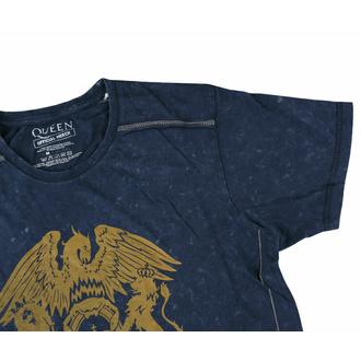 tričko pánské Queen - Classic Crest Snow Wash - NAVY - ROCK OFF, ROCK OFF, Queen