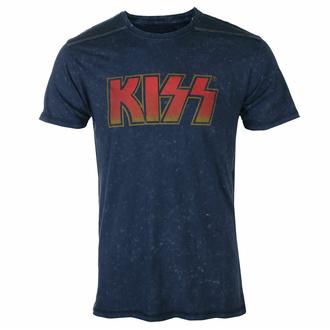 tričko pánské KISS - Classic Logo - Snow Wash - ROCK OFF, ROCK OFF, Kiss