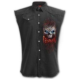 košile pánská bez rukávů (vesta) SPIRAL - RESPAWN - Black, SPIRAL
