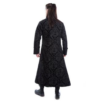 kabát pánský POIZEN INDUSTRIES - MONARCH - BLACK BROCADE, POIZEN INDUSTRIES