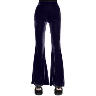 kalhoty dámské KILLSTAR - Moondance Bell - PLUM - KSRA002562