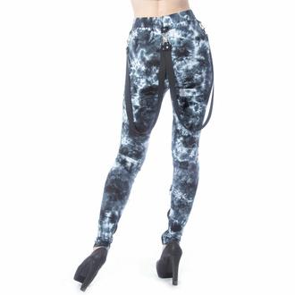 kalhoty dámské (legíny) CHEMICAL BLACK - MORWENNA - BLACK/WHITE TIE DYE, CHEMICAL BLACK