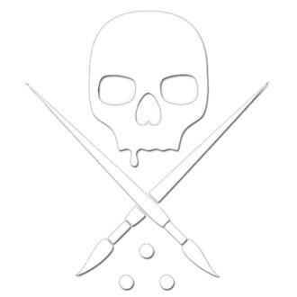 nálepka (malá) SULLEN - DIE CUT STICKER 3 IN - WHITE, SULLEN